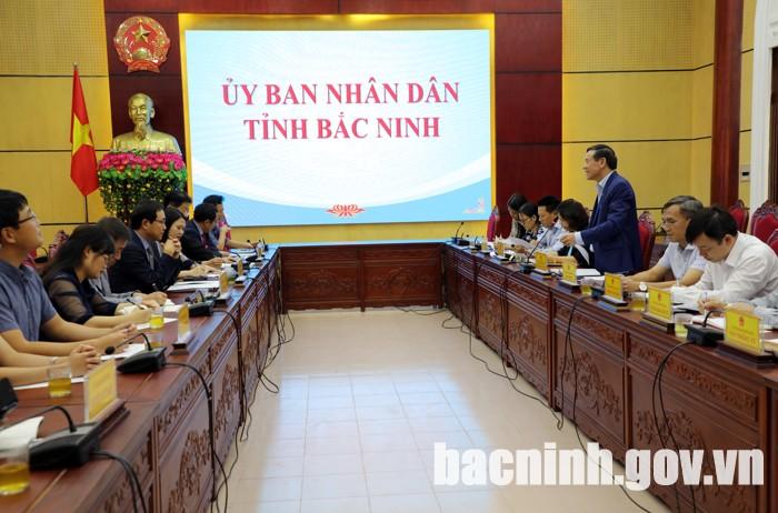 Lãnh đạo tỉnh làm việc với Tổ hợp Samsung KCN Yên Phong