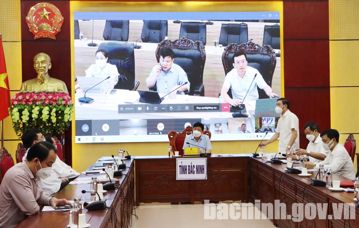 Hội nghị trực tuyến thẩm định Báo cáo nghiên cứu tiền khả thi dự án đường Vành đai 4 - Vùng Thủ đô