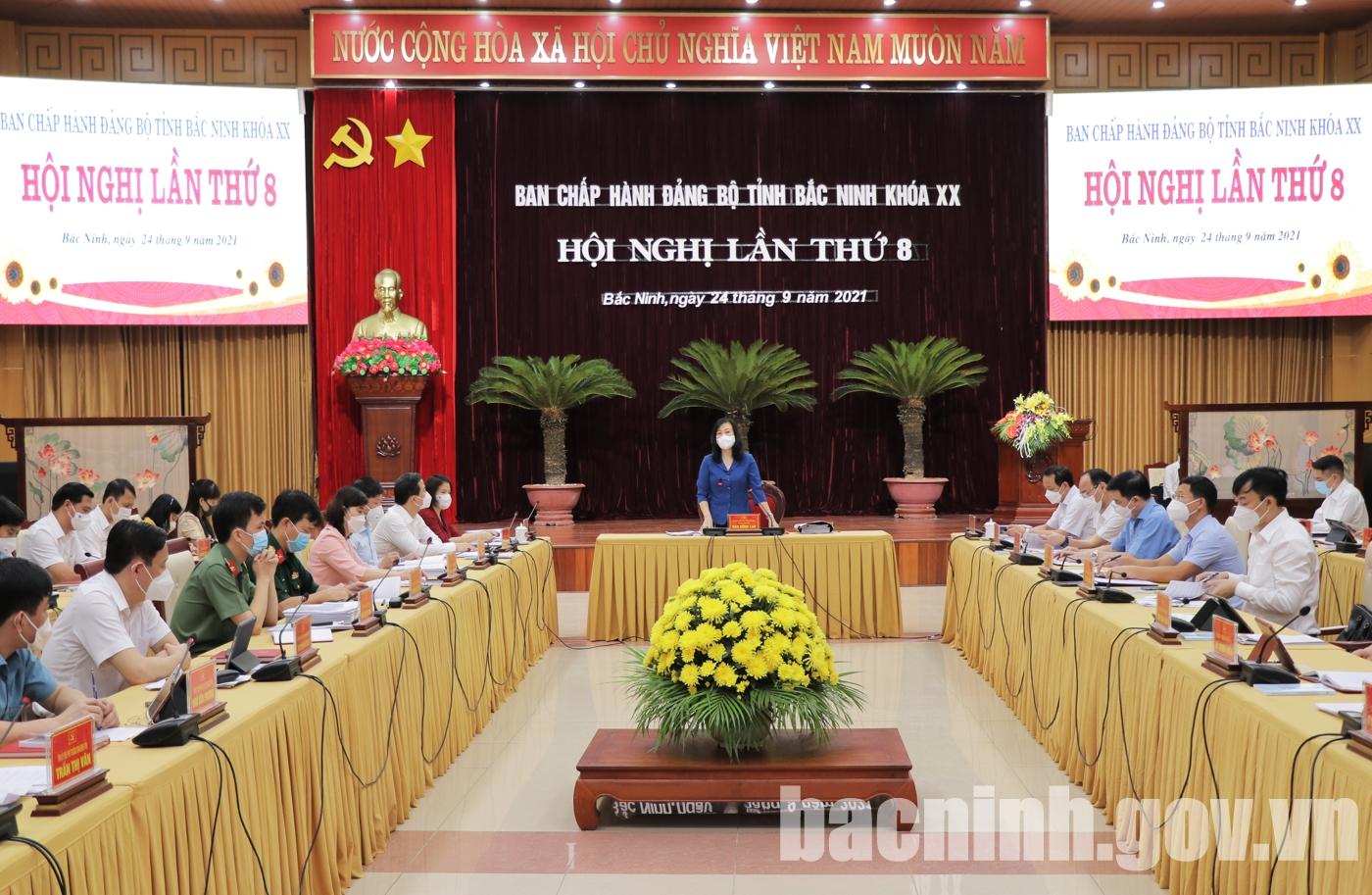 Hội nghị Ban Chấp hành Đảng bộ tỉnh lần thứ 8